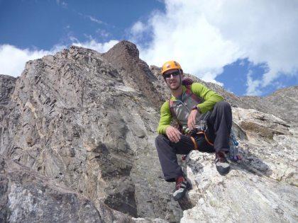 kyle climbing in tetons