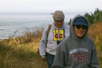 Mom, Dad, and Tillamook lighthouse <br> (now you know where I picked up the photography thing)